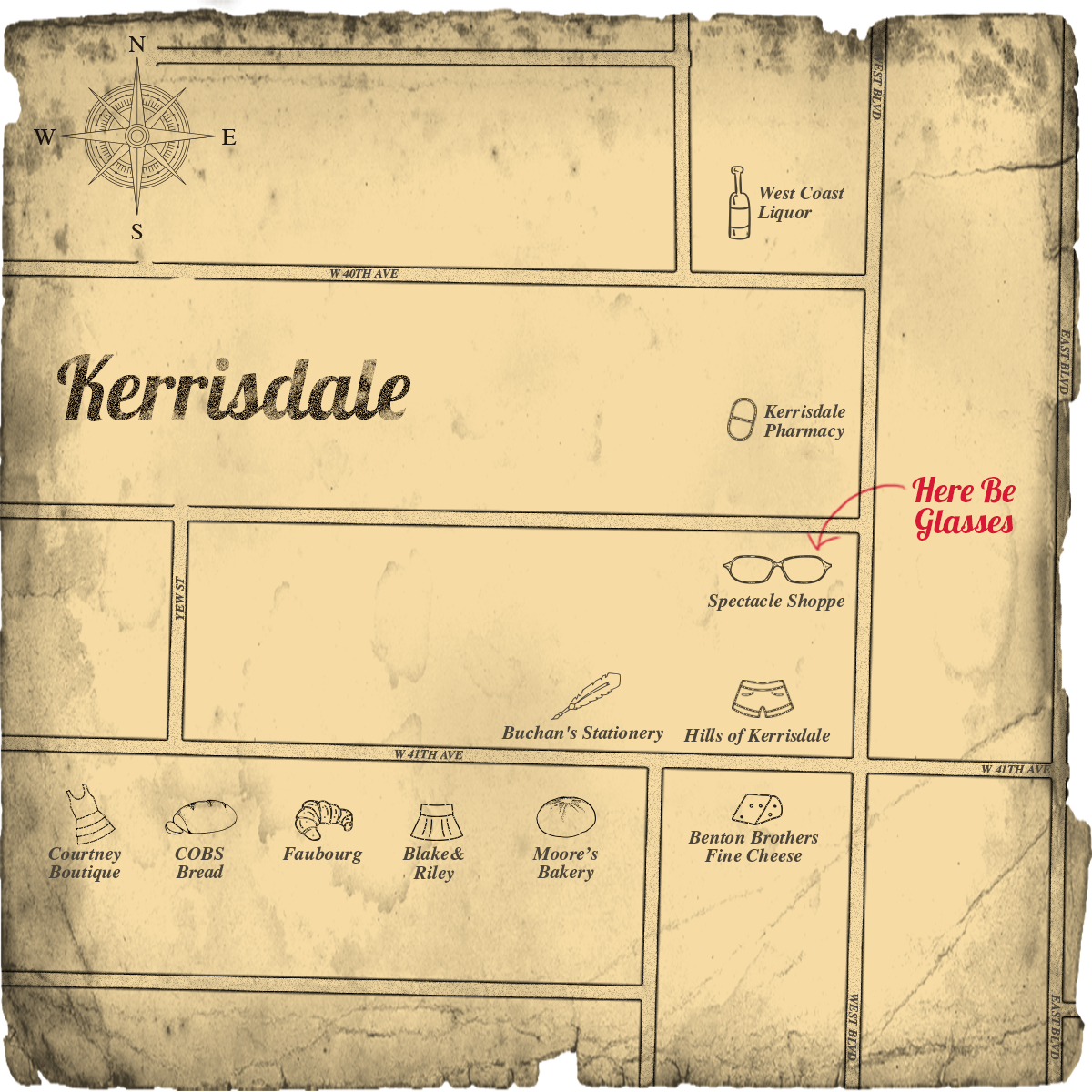 Map of Kerrisdale