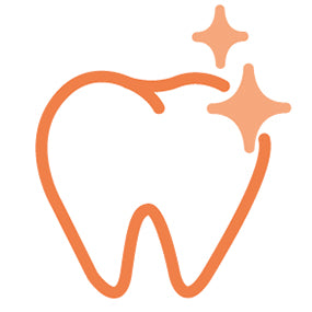 Icon representing Grooved Pattern Cleans Teeth