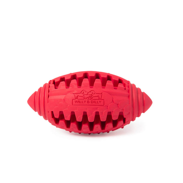 Rugby Ball Dog Toy - Small - Red