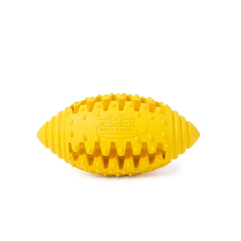 Rugby Ball Dog Toy - Small - Yellow