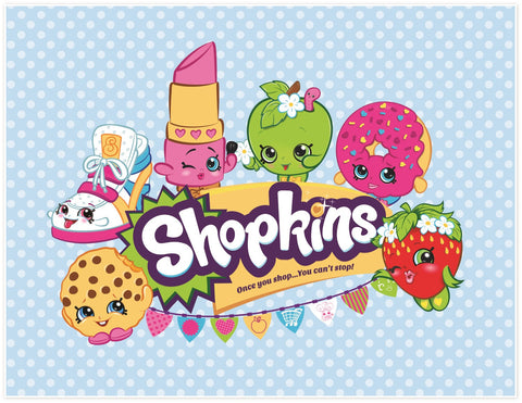 Shopkins Fleece Throw