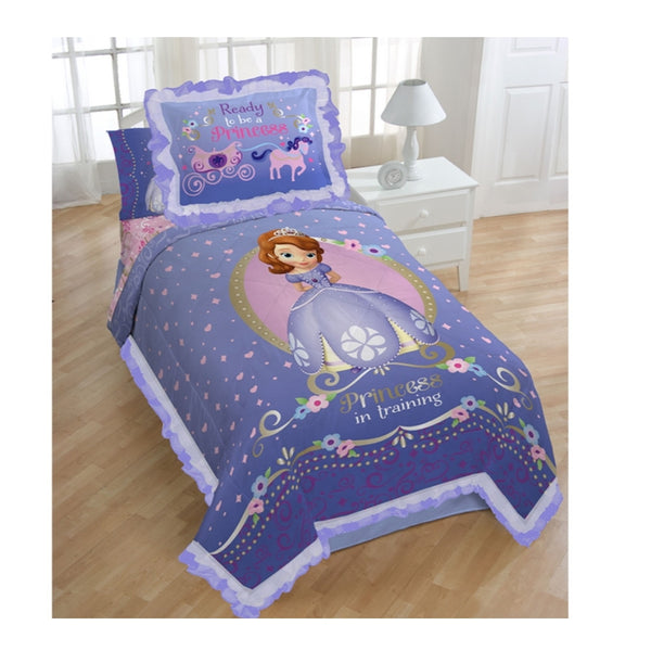 Princess Sofia Twin Comforter and Sham Set