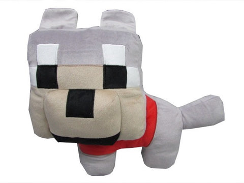 Minecraft Wolf Character Pillow