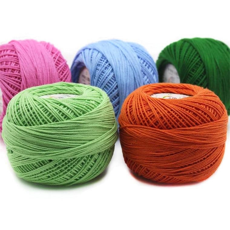10pcs 100% Cotton Yarn 3# Lace Yarn for Crocheting Baby Needle Work Using 2.5mm Crochet 500g/Lot
