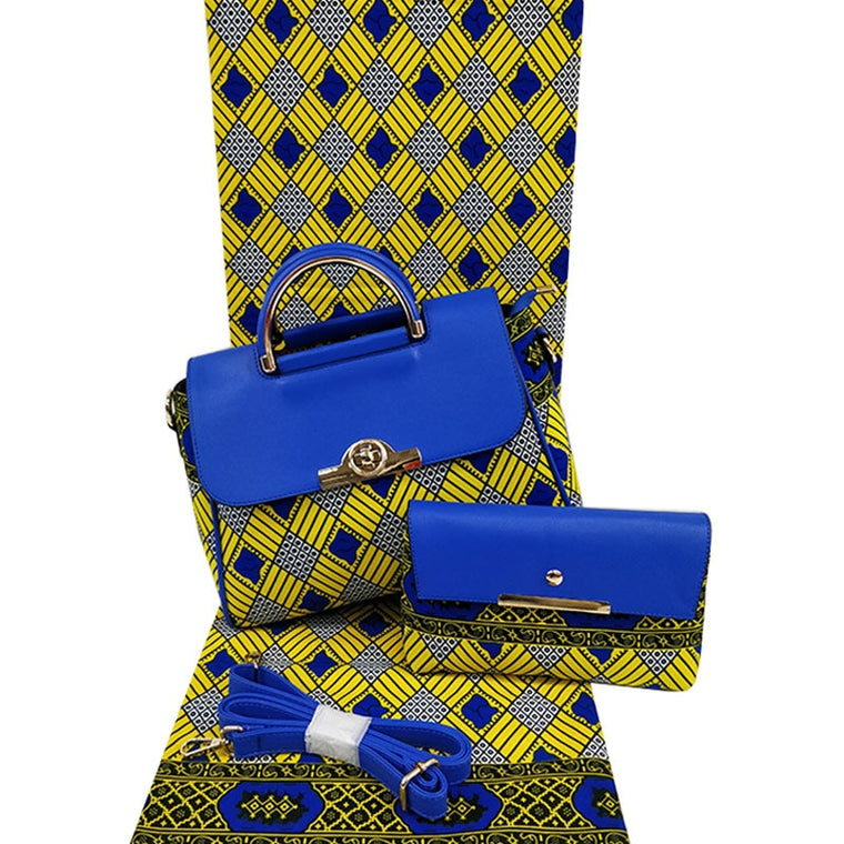2019 fashion designer african wax bag African Print and Purse/african wax with bags/african fabrics H17101801