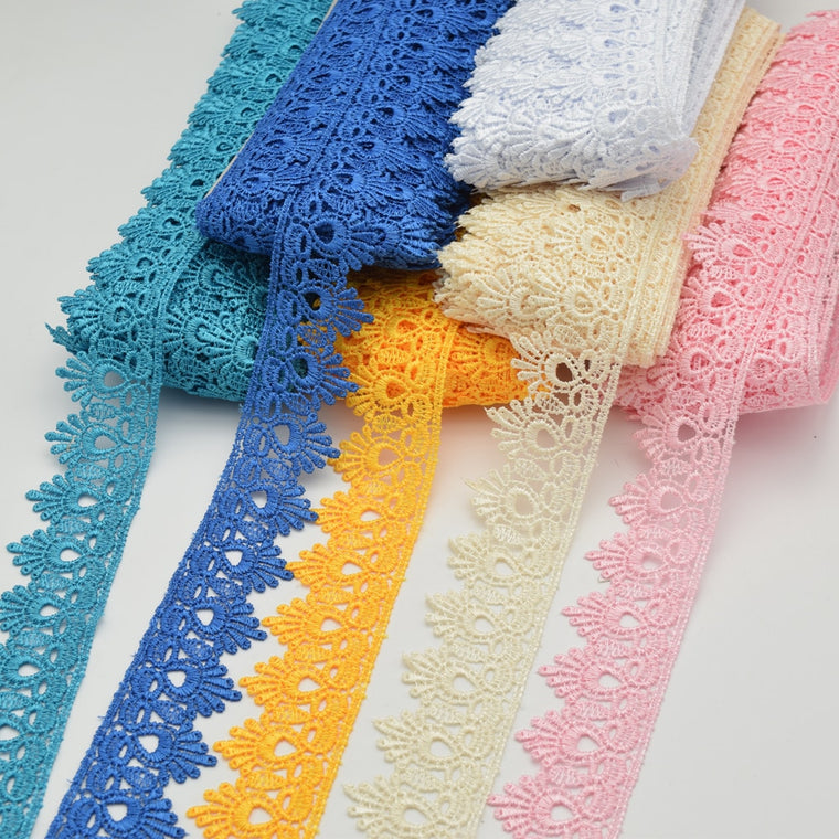 15yards Venise Lace trim wedding DIY crafted sewing polyester lace  wholesale  4.5cm