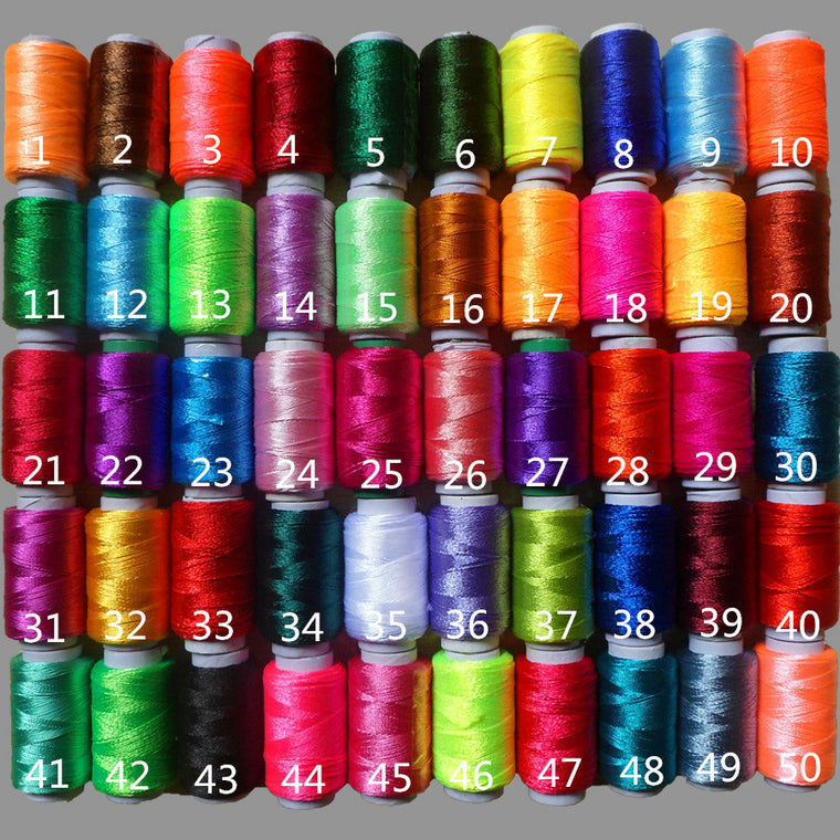 50PCS/lot 12g/pcs Multicolor Ice Silk Embroidery Thread Sewing Embroidery Cross Stitch Silk Threads Embroidery Line For Handmade