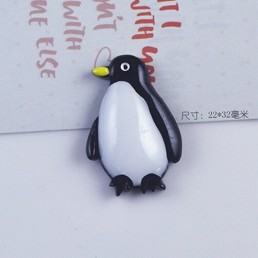 100pcs/lot 22X32mm Cute Resin Penguin Flatback Cabochon For Kids DIY HeadClip Scrapbooking Craft Home DIY Favor