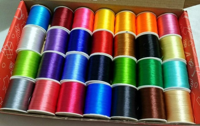 120D/2 28PCS/lot Multicolor Polyester Embroidery Thread Sewing Embroidery Cross Stitch Silk Threads Embroidery Line For Handmade