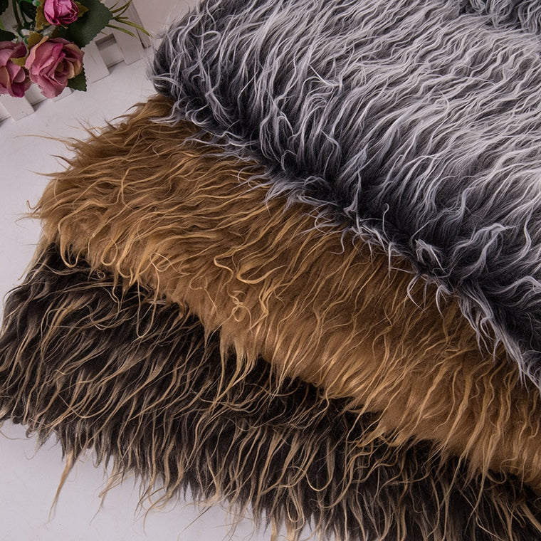 160*100cm  falling water double color faux plush fur fabric for coat pillow case vest Fur collar long hair plush fur tissu telas