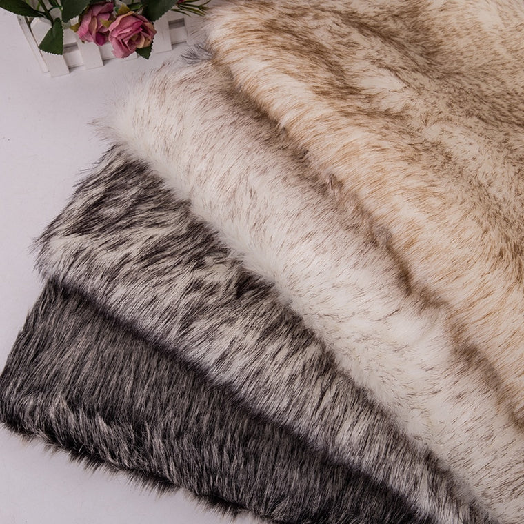 160*100cm rabbit fur faux plush fabric for coat pillow vestcollar home blanket 3cm long pile plush fur tissu telas