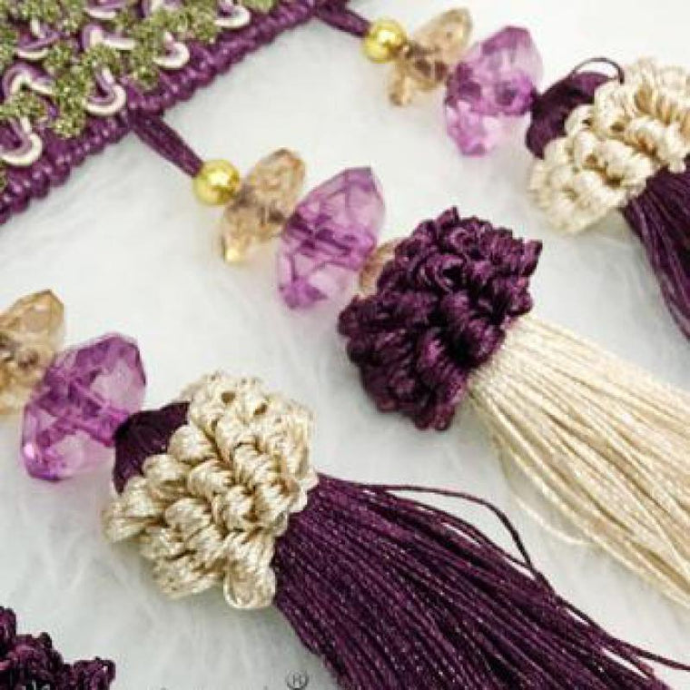 12yards/lot Curtain Accessories Tassel Fringe Beads Strawberry Hanging Spike Hanging Ball Galon Ruban Pompons Cortina Flecos