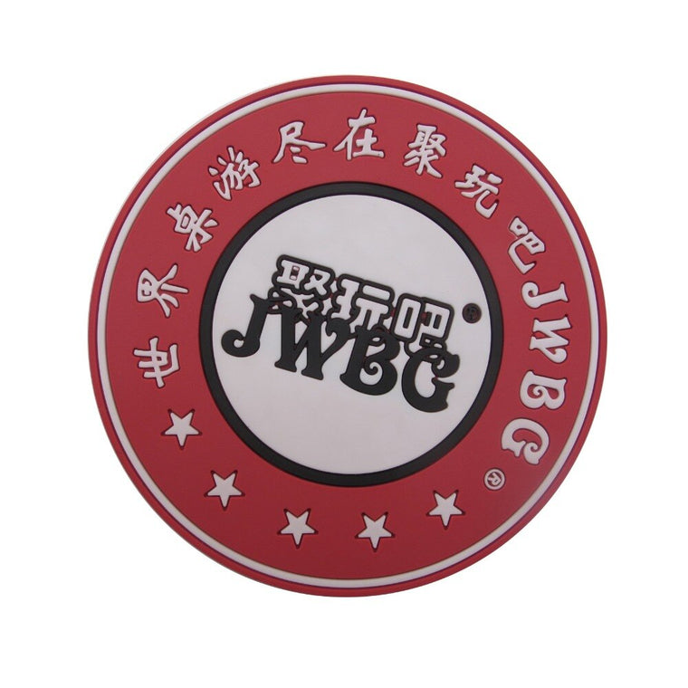 (1000pcs/pack) round PVC patches, rectangle plastic rubber labels / badges with custom brand name and logo