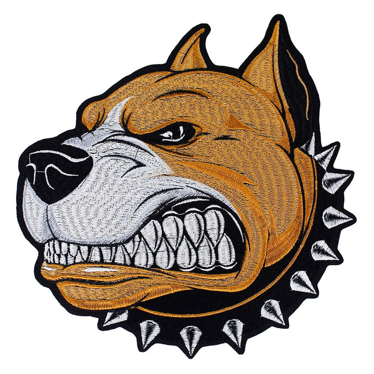 10pieces Embroidery Dog Head Back Patches Iron on Embroidery Applique for Motor Jacket T-shirt Decorated DIY Craft TH1255