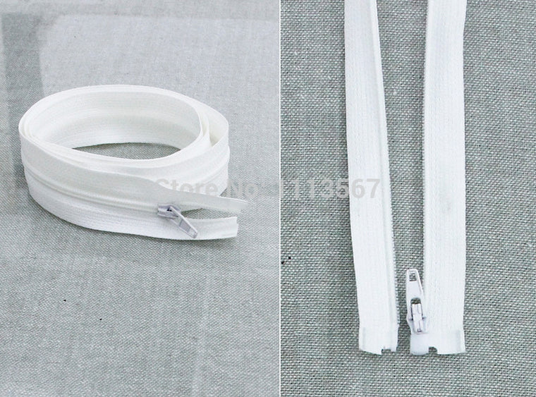 50pieces  Nylon 3# Open End White  Zipper Sewing for Jeans 60cm  Sewing Zippers  Z50