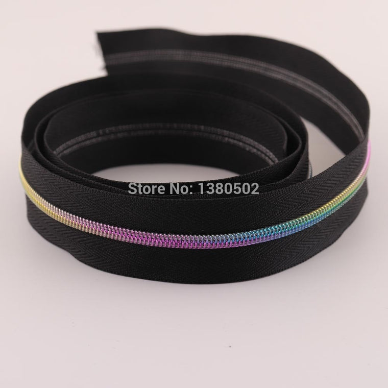 5Yards rainbow Color Nylon Teeth Zippers 3# for bags handbag shoes garment luggage sewing Accessories