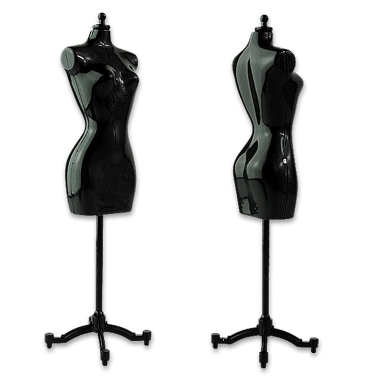 10Pcs Fashionable Girls Fantasy convenient Doll Display Gown Dress Form Clothes Mannequin Model Stand Rack Holder Black