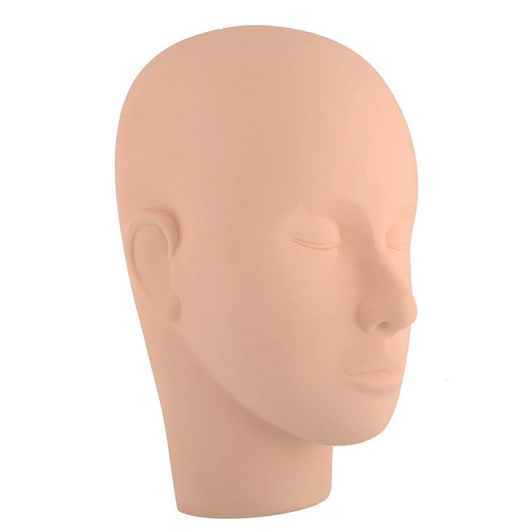 Mannequin Training Head Make Up Face Closed Eyes Flat Extension head mould