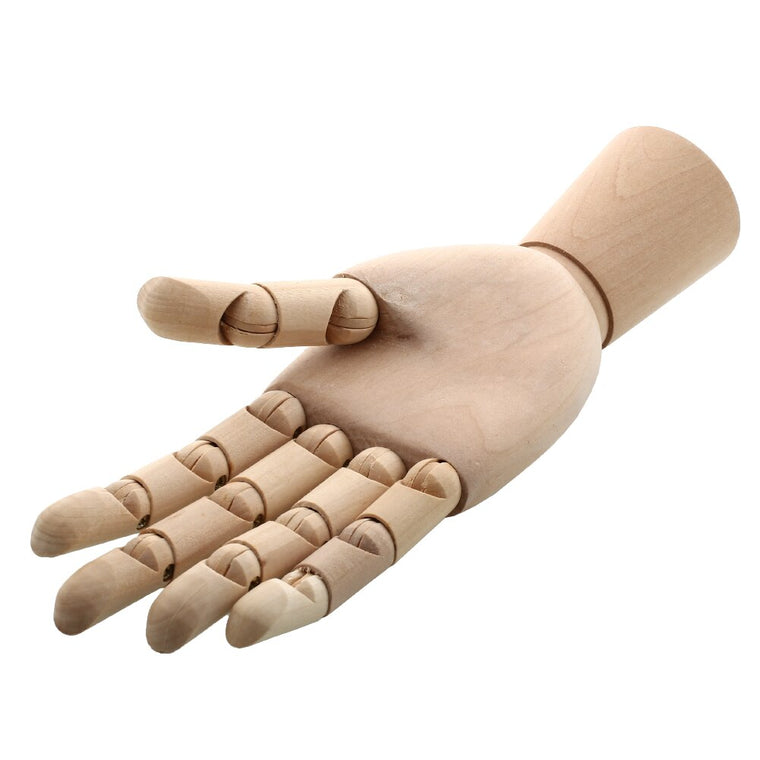 "10"" Wooden Artist Articulated Right Hand Manikin Gift Art Model Hand Toy"