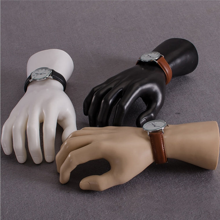 1Pc Black White Yellow Skin Color Mannequin Man Hand Mannequin Finger Jewelry Nail Watch Ring Bracelet Gloves Display Hand Model