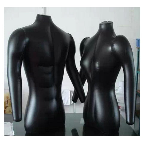 Fashion Black Inflatable Female n Male Mannequin Suitable For Display Store Mall Clothes