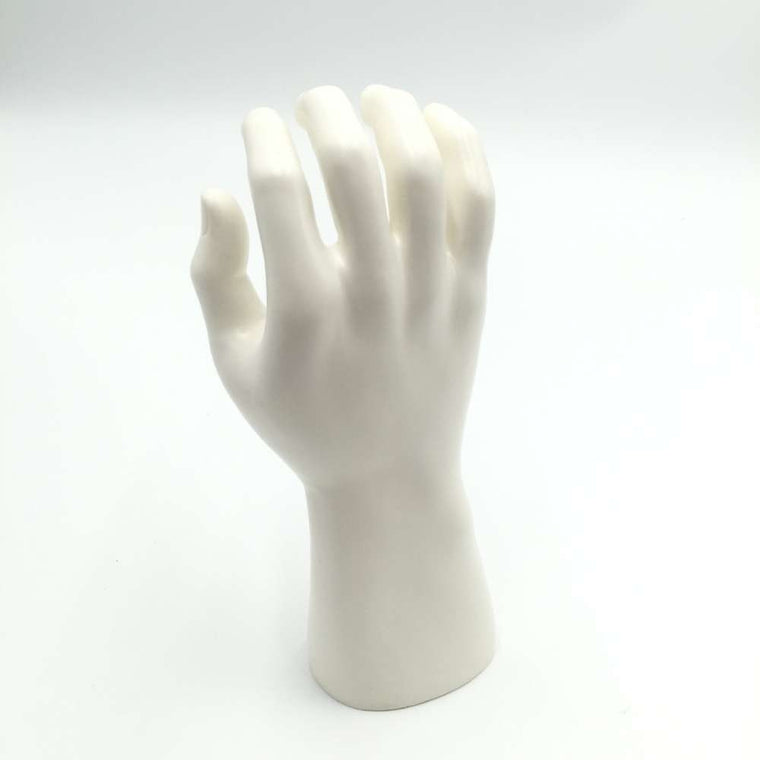 CAMMITEVER White Plastic Mannequin Hand Man Finger Jewelry Nail Watch Ring Bracelet Display