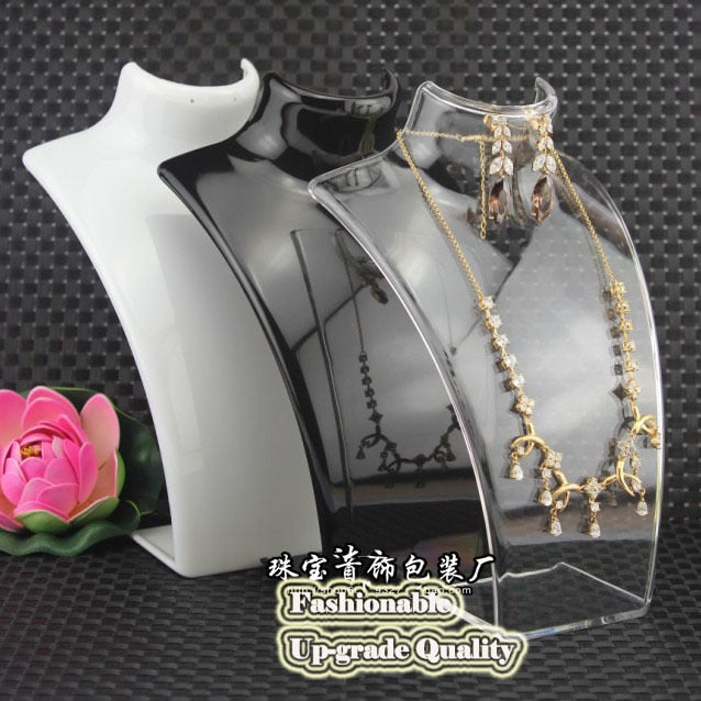Free shipping Display Rack Plastic Necklace Holder Bust Mannequin Necklace Stand Display Rack Jewelry Holder Necklace Holder