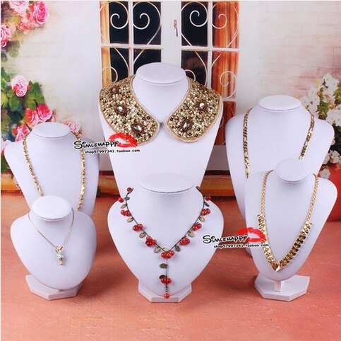Free Shipping!! New Style Black Necklace Torso Mannequin Bust Necklace n Jewelry Display