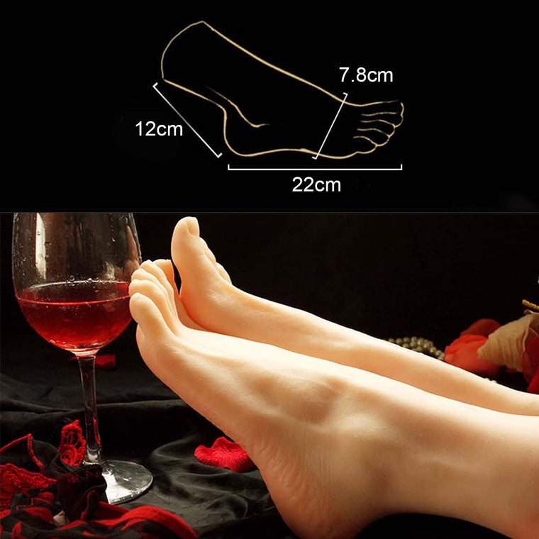 1pcs Lifelike Silicone Female Legs Foot Mannequin Shoes Socks Display Model Size 36 Mannequins Foot Model ( Only 1 Foot )
