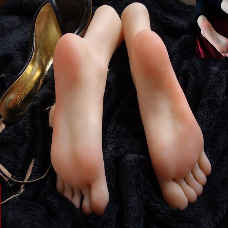 37 Real-life simulation female foot mannequin footwear shooting display props pedicure painting teaching stockings 1pc A390