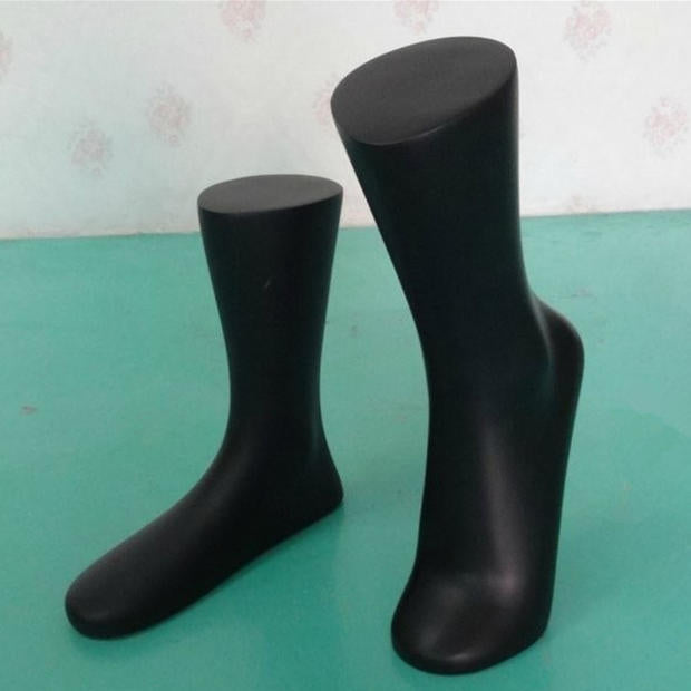 Free Shipping!! Wholesale One Sets Different Design Black Fiberglass Mannequin Foot Model Made In China