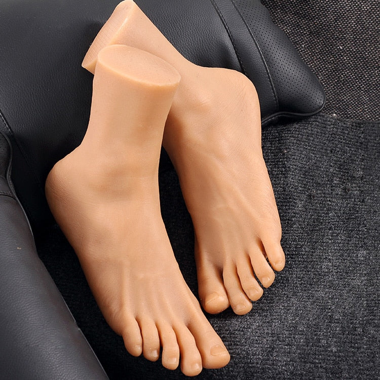 Men Silicone Lifelike Mannequin Foot Model Customized Hot Sale