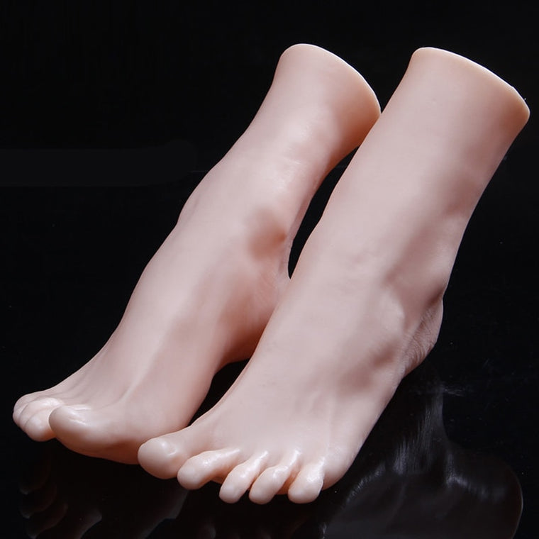 Legs Feet Foot Mannequin Sock Display Mold Short Stocking Soft PVC Realistic Mannequin Foot Display