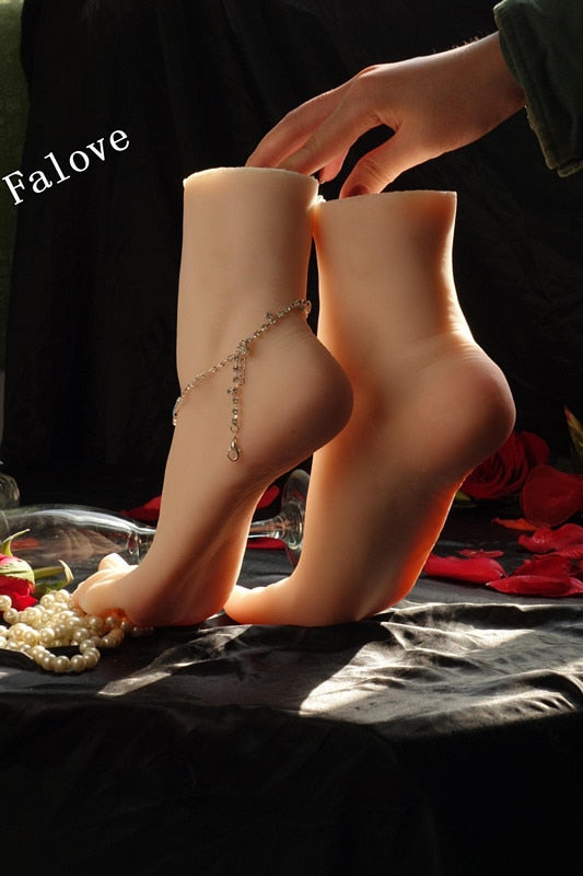 Free Shipping!! Hot Sale Lifelike Silicone Foot Mannequin Feet Model Best Value For Display