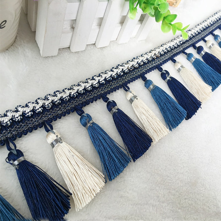 2Meter/Lot European Curtain Lace Tassel Fringe Tassel Hanging Ear Sofa Clothes Tablecloth Diy Clothes Decoration