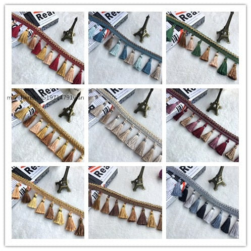 5 meters  / wholesale 8.5 CM long curtain lace tassel edge acrylic crystal pendant curtains DIY accessories curtain fabric
