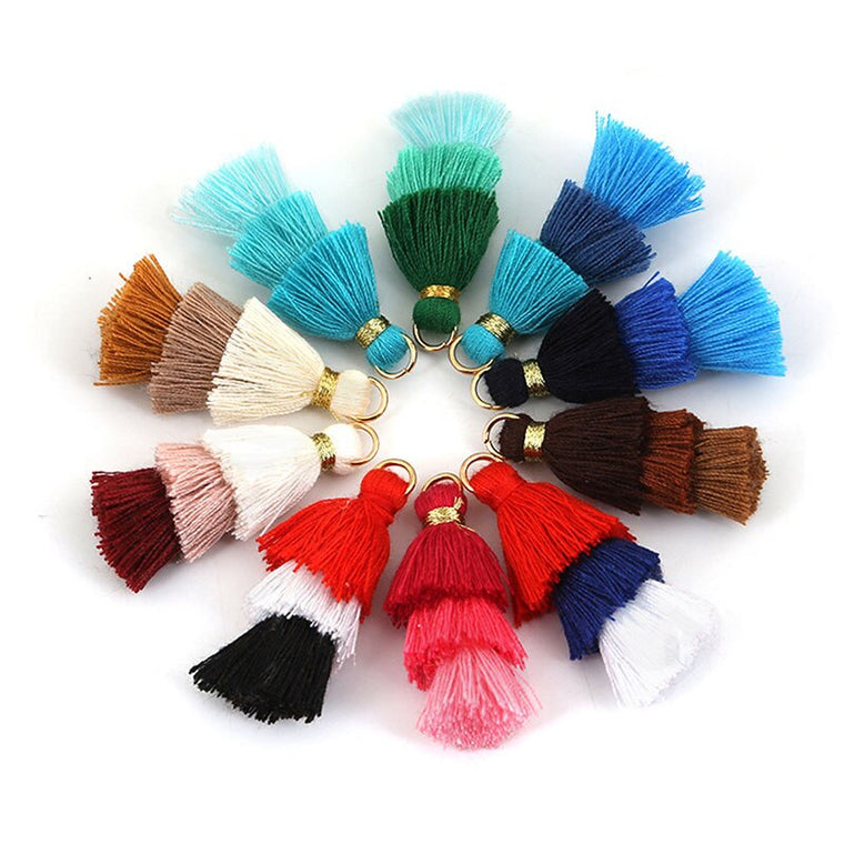 12pcs/lot Personalized Long Colorful Three layers of tassel for Keychain bag Cellphone Pendant home decoration DIY accessories