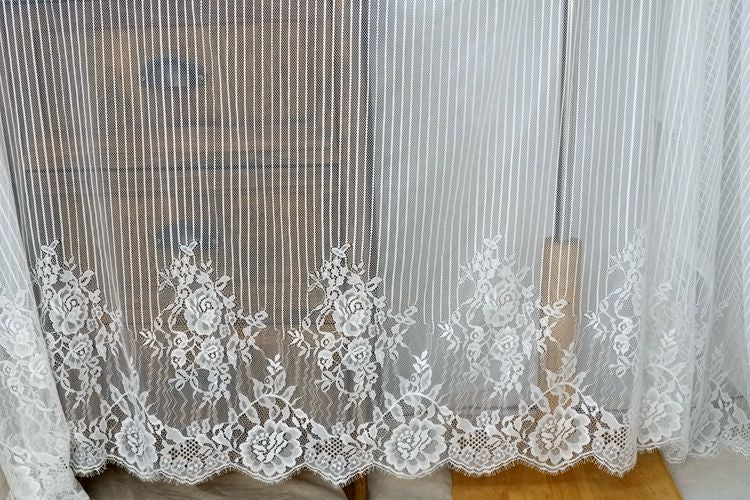 1.5M x 3M / lot eyelash lace fabric diy bridal weeding dress lace embroidery clothes dress accessories