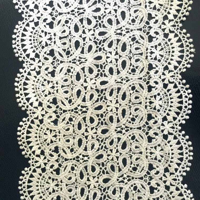 18cm polyester embroidery watersoluble lace trim,XERY191019A
