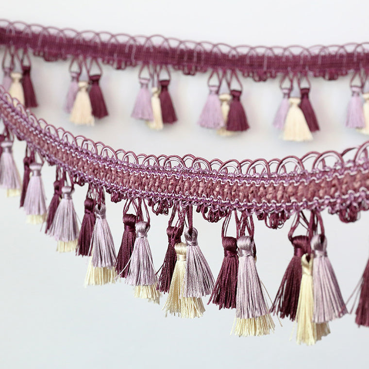 Curtain Lace Accessories Tassel Fringe Trim Ribbon Fabric DIY Sewing Latin Dress Stage Garment Curtain Tassel Hanging Decoration