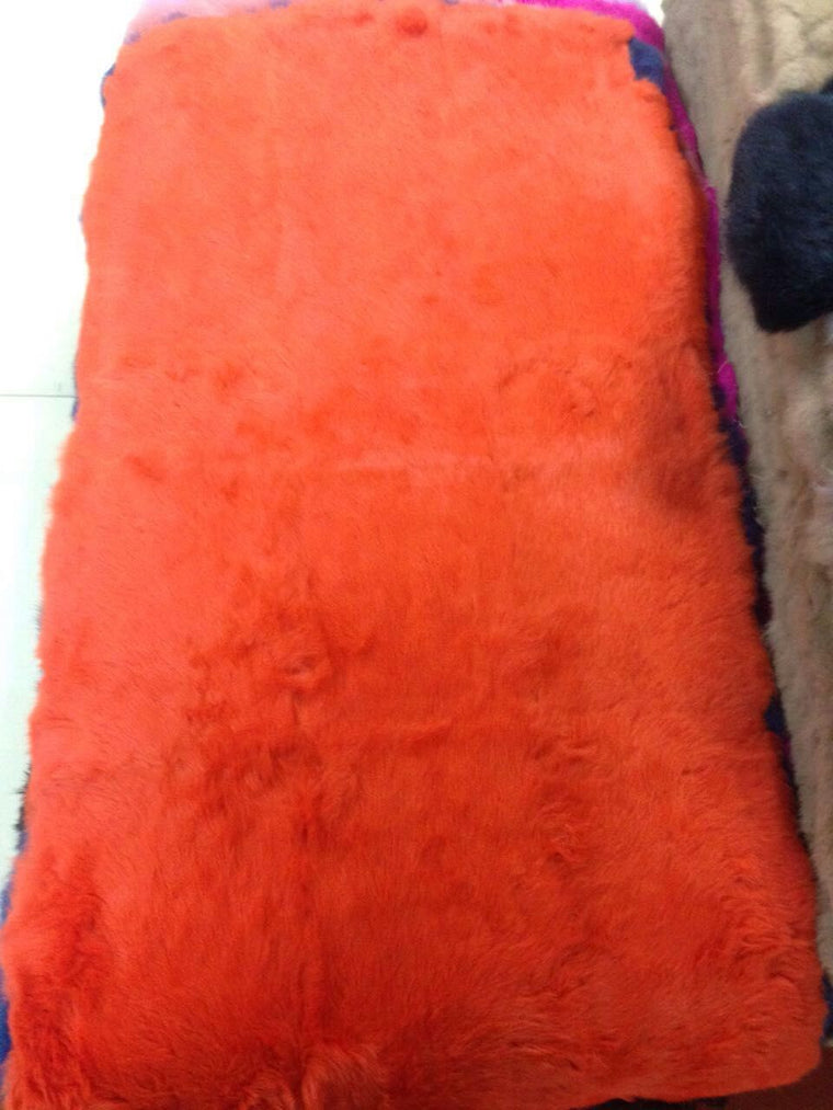 Dyed orange plate rabbit fur 50CM*110CM piece