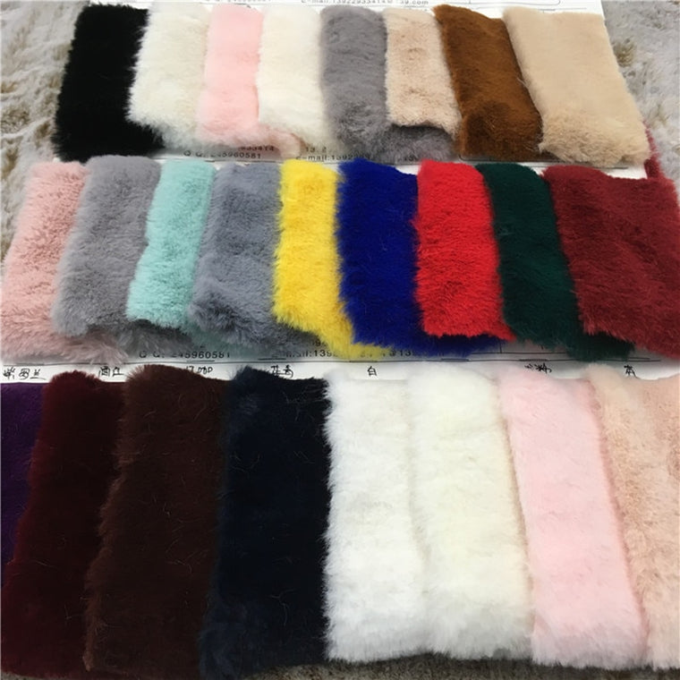85cm*160cm 10MM Hight Faux rabbit hair High grade plush faux fur fabric for winter coat faux rabbit hair cloth tissue for DIY