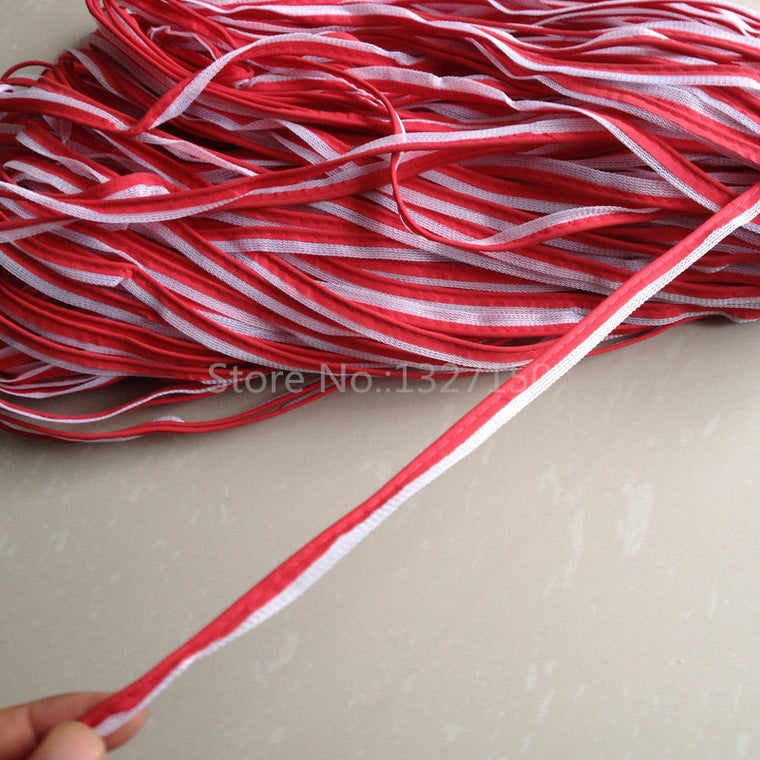 10mmx20m Red Reflective Piping Fabric Strip Edging Braid Trim Tape Sew On for Clothes Bag Cap Pants