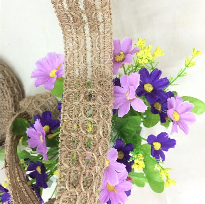 Eco-friendly 100% jute fancy weaved tassel trim 3.5cm wide price for 5 meters long free ship lowest price