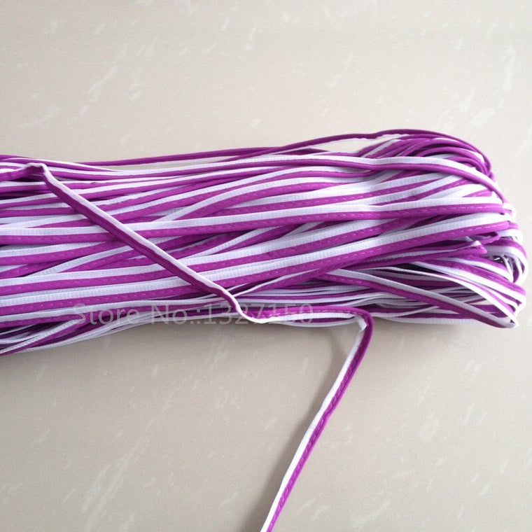10mmx50m Purple Reflective Piping Fabric Strip Edging Braid Trim Tape Sew On for Clothes Bag Cap Pants