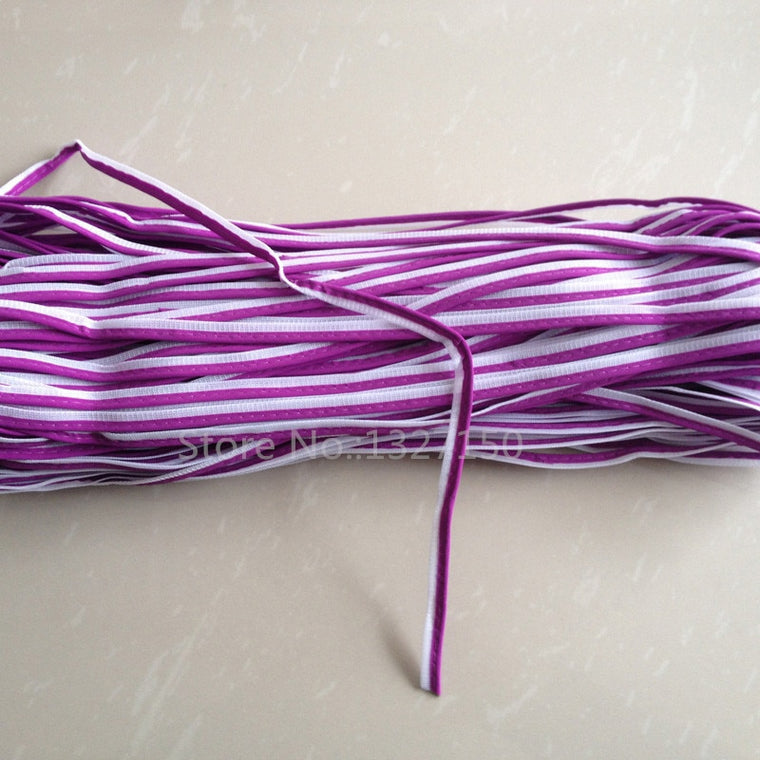 10mmx20m Purple Reflective Piping Fabric Strip Edging Braid Trim Tape Sew On for Clothes Bag Cap Pants