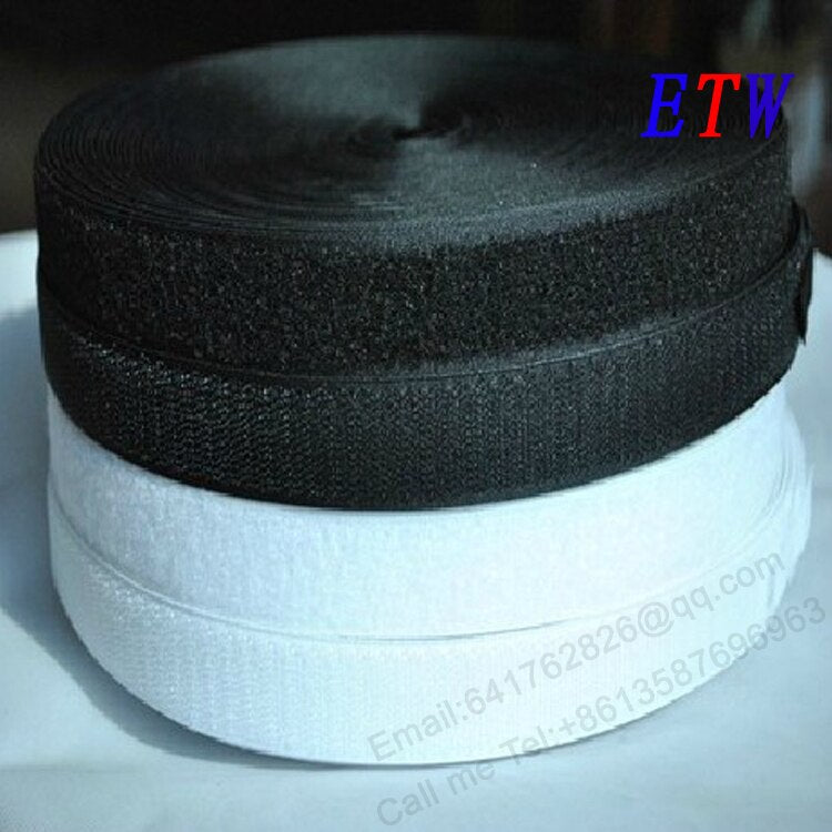 "Free shipping 3/4""(20mm) Black Sew-On Adhesive Fastener Tape Hook & Loop For garment,etc DIY 27 Yards /set wholesales and retail"
