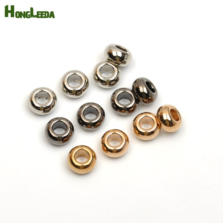 100pcs/lot metal zinc alloy bell stoppers round cord ends beads bells lock shinny nickle, black, gold free shipping BELL-012