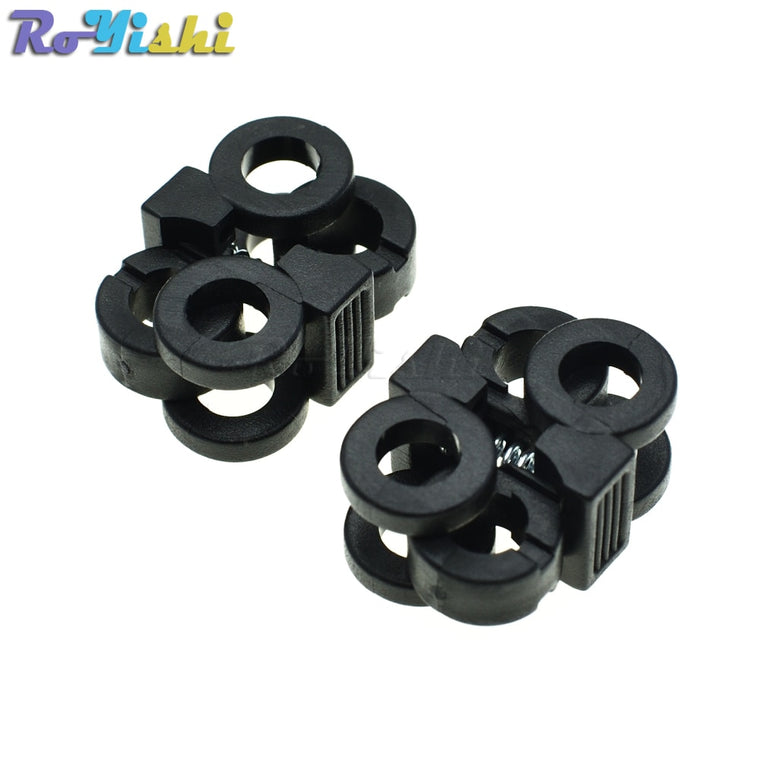 100pcs/pack 2 Hole 5.7mm Shoelace Plastic Buckles Cord Locks Toggle Stopper Black