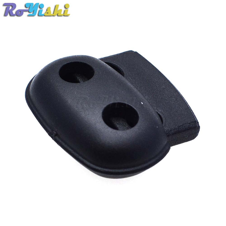 1000pcs/pack Plastic Cord Lock Stopper Toggle Clip Black 25mm*21mm*8mm